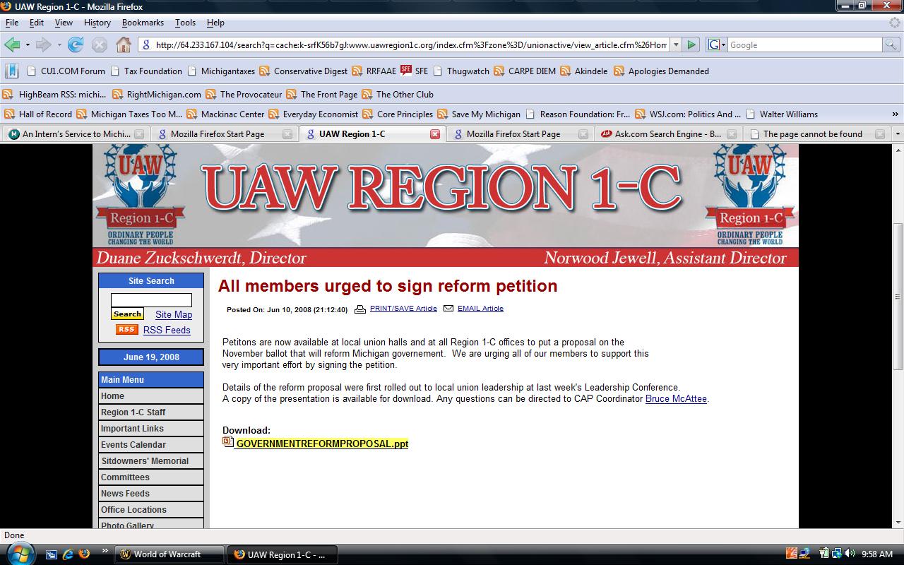 Union Direct involvement in Politics.