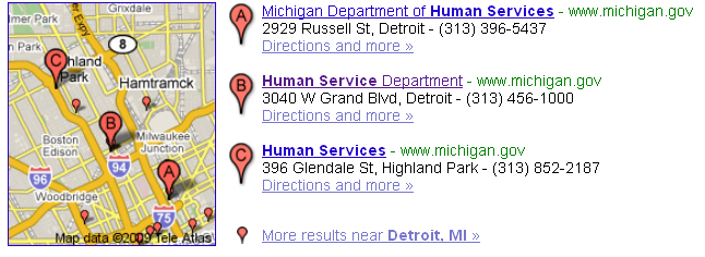 Health and Human service locations